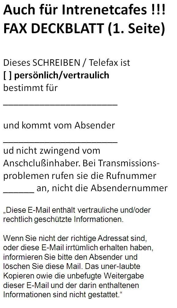Erfreut Vertrauliche Fax Deckblatt Zeitgenössisch - Bilder für das ...